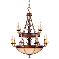 Savoy House 1-40004-12-56 Blue Ridge 12 Light 36 inch New Tortoise Shell Chandelier Ceiling Light in Excavated photo thumbnail
