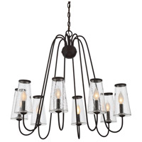 Oleander 8 Light 30 inch English Bronze Outdoor Chandelier