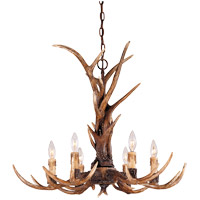 Blue Ridge 6 Light 29 inch New Tortoise Shell Chandelier Ceiling Light