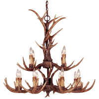 Savoy House Heartland Whimsical Blue Ridge 12 Light Chandelier in New Tortoise Shell 1-40025-12-56