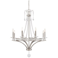 Savoy House 1-401-8-SN Alana 8 Light 32 inch Satin Nickel Chandelier Ceiling Light