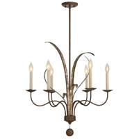 Mandolin 6 Light 27 inch Fiesta Bronze Chandelier Ceiling Light