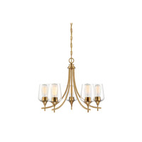 Octave 5 Light 23 inch Warm Brass Chandelier Ceiling Light
