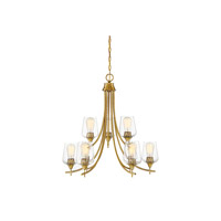 Octave 9 Light 30 inch Warm Brass Chandelier Ceiling Light