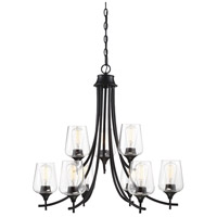 Savoy House 1-4033-9-BK Octave 9 Light 30 inch Black Chandelier Ceiling Light