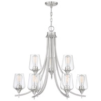 Savoy House 1-4033-9-SN Octave 9 Light 30 inch Satin Nickel Chandelier Ceiling Light