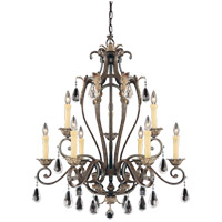 Savoy House Hensley 9 Light Chandelier in Fiesta Bronze 1-4051-9-124