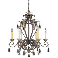 Savoy House Hensley 6 Light Chandelier in Fiesta Bronze 1-4053-6-124