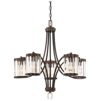 Nora 5 Light 27 inch Burnished Bronze Chandelier Ceiling Light