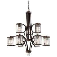 Nora 9 Light 33 inch Burnished Bronze Chandelier Ceiling Light