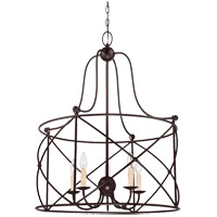 Savoy House 1-4072-5-13 Seneca 5 Light 26 inch English Bronze Pendant Ceiling Light