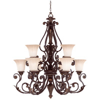 Savoy House Cordoba 9 Light Chandelier in Antique Copper 1-4085-9-16