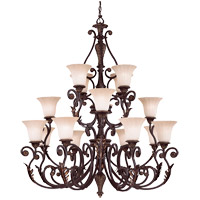 Savoy House Cordoba 16 Light Chandelier in Antique Copper 1-4086-16-16