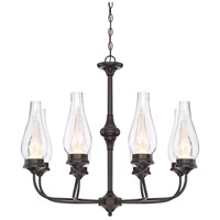 Wickford LED 31 inch English Bronze Chandelier Ceiling Light in Clear