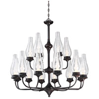 Wickford LED 37 inch English Bronze Chandelier Ceiling Light in Clear