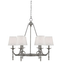 Savoy House Foxcroft 6 Light Chandelier in Brushed Pewter 1-4157-6-187