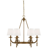 Savoy House Foxcroft 6 Light Chandelier in Aged Brass 1-4157-6-291