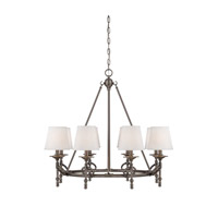 Savoy House Foxcroft 8 Light Chandelier in Brushed Pewter 1-4158-8-187