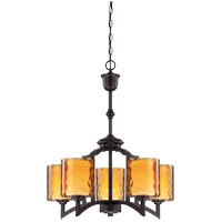 Savoy House Orion 5 Light Chandelier in Oiled Copper 1-4200-5-05