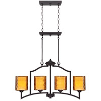 Savoy House Orion 4 Light Chandelier in Oiled Copper 1-4201-4-05