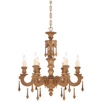 Savoy House Bellemeade 6 Light Chandelier in Aged Wood 1-4270-6-254