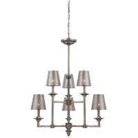 Savoy House Structure 6 Light Chandelier in Aged Steel 1-4300-6-242
