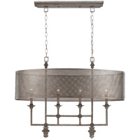 Structure 4 Light 20 inch Aged Steel Chandelier Ceiling Light