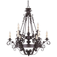 Savoy House Bourges 9 Light Chandelier in Forged Black 1-4315-9-17
