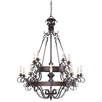 Savoy House Bourges 15 Light Chandelier in Forged Black 1-4321-15-17 photo thumbnail