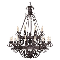 Bourges 24 Light 48 inch Forged Black Chandelier Ceiling Light