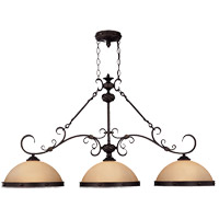 Savoy House Bourges 3 Light Island Light in Forged Black 1-4328-3-17
