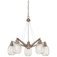 Orsay 5 Light 26 inch Industrial Steel Chandelier Ceiling Light in Clear
