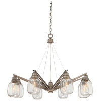 Orsay 8 Light 34 inch Industrial Steel Chandelier Ceiling Light in Clear
