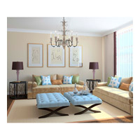 Savoy House Madeliane 6 Light Chandelier in Distressed White Wood and Iron 1-4340-6-192 alternative photo thumbnail