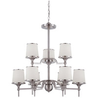 Hagen 9 Light 27 inch Satin Nickel Chandelier Ceiling Light