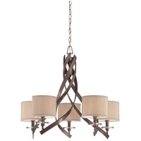 Savoy House Luzon 5 Light Chandelier in Antique Nickel 1-4431-5-285