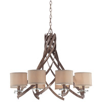 Savoy House Luzon 9 Light Chandelier in Antique Nickel 1-4435-9-285