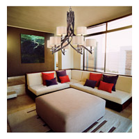 Savoy House Luzon 9 Light Chandelier in Antique Nickel 1-4435-9-285 alternative photo thumbnail
