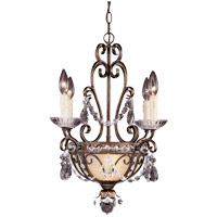 Savoy House 1-4505-4-8 Signature 4 Light 18 inch New Tortoise Shell with Silver Mini Chandelier Ceiling Light