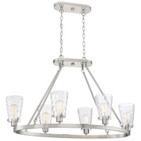 Savoy House 1-4506-6-SN Vaughan 6 Light 38 inch Satin Nickel Linear Chandelier Ceiling Light alternative photo thumbnail