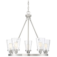 Savoy House 1-4507-5-SN Vaughan 5 Light 27 inch Satin Nickel Chandelier Ceiling Light