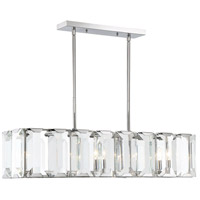 Bangle 5 Light 40 inch Polished Chrome Island Chandelier Ceiling Light