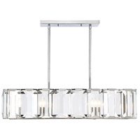 Savoy House 1-4700-5-11 Bangle 5 Light 40 inch Polished Chrome Island Chandelier Ceiling Light alternative photo thumbnail