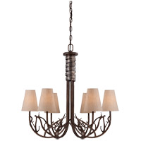 Savoy House Brambles 6 Light Chandelier in Moonlit Bark 1-4800-6-132