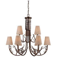 Savoy House Brambles 9 Light Chandelier in Moonlit Bark 1-4801-9-132