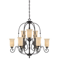 Savoy House Tuscano 9 Light Chandelier in Nero 1-4871-9-159 photo thumbnail
