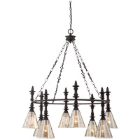Darian 8 Light 32 inch Oiled Bronze Chandelier Ceiling Light in Silvery Mercury