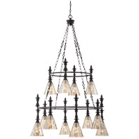 Darian 12 Light 34 inch Oiled Bronze Chandelier Ceiling Light