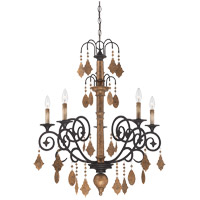 Savoy House Aragon 5 Light Chandelier in Penate Gold 1-500-5-286