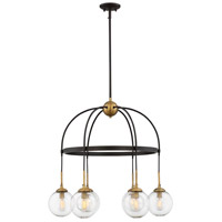 Fulton LED 27 inch English Bronze/Warm Brass Chandelier Ceiling Light in Clear